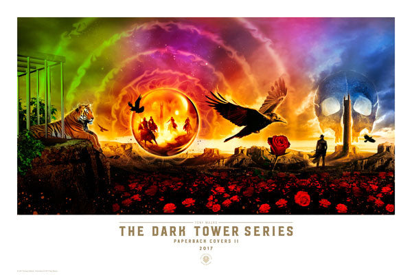 The Dark Tower Series Paperback Covers II - Art Print