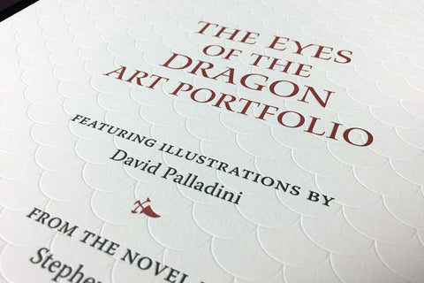The Eyes of the Dragon Art Portfolio - Lettered Edition
