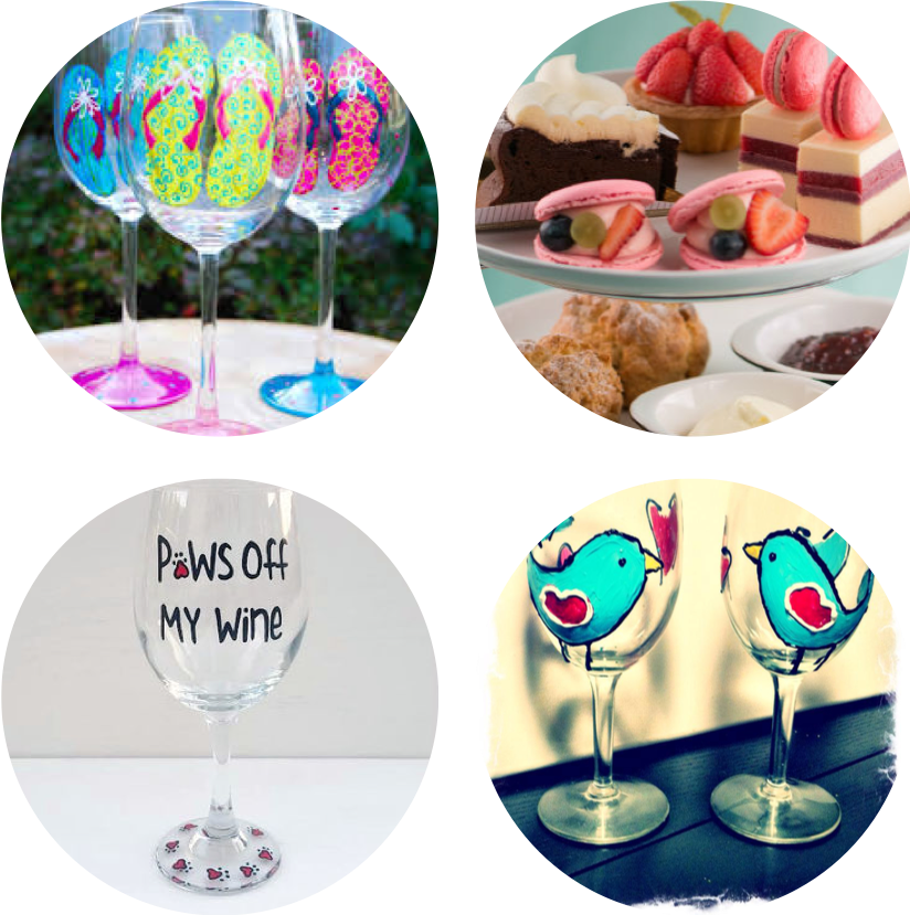 Mother's Day High Tea - Paint your wine glass! (1-3pm)