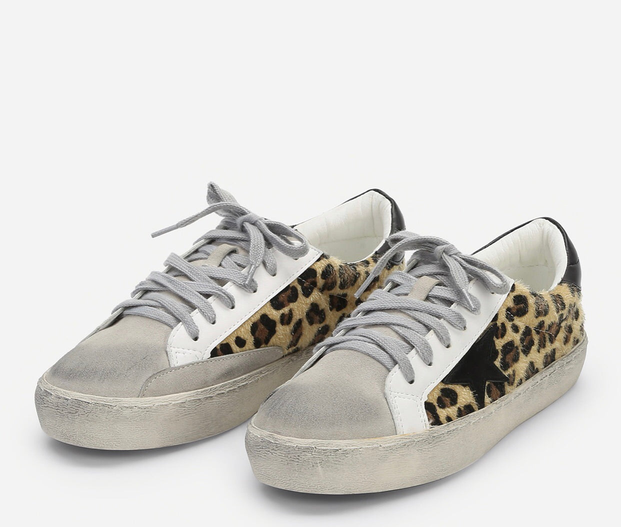Star Sneakers in Leopard