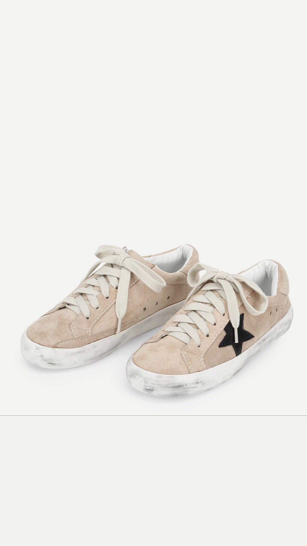 Star Sneaker in Tan Suede