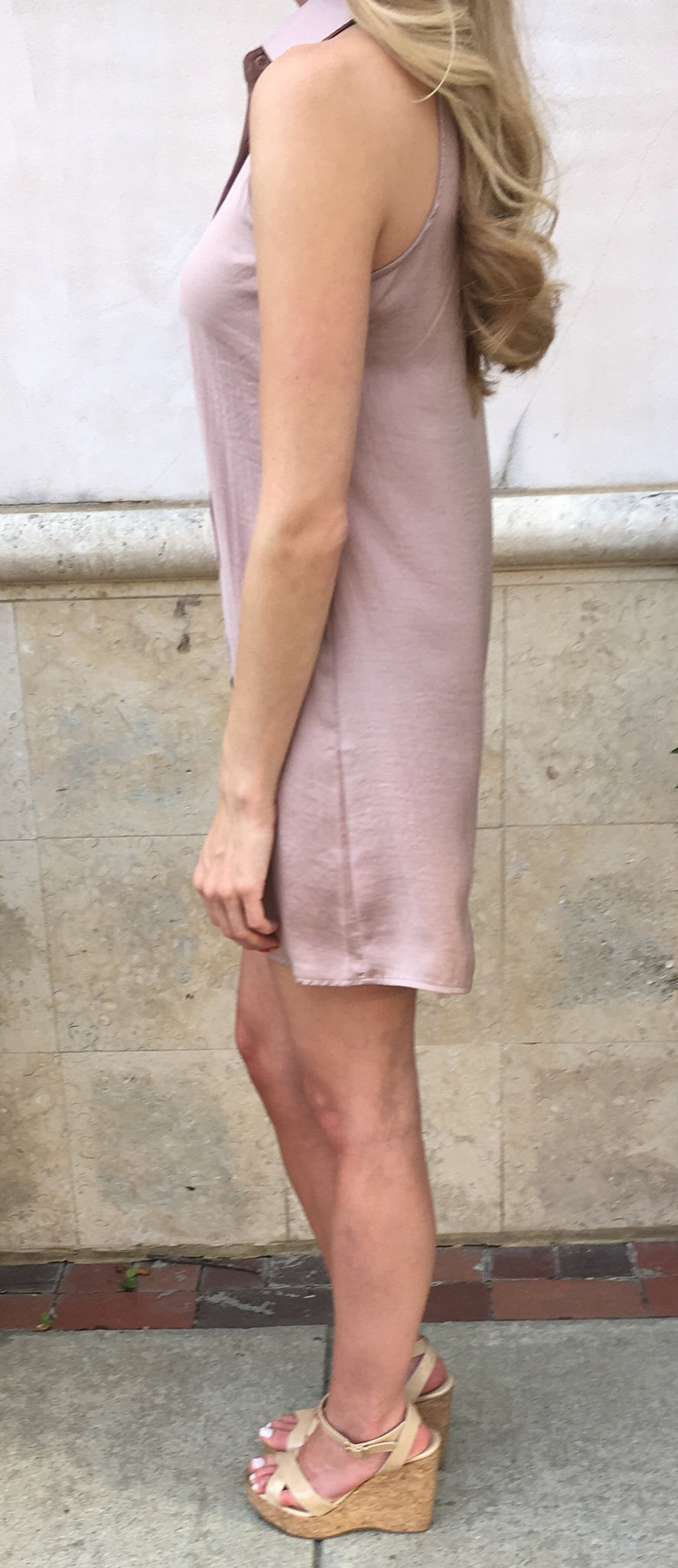 Button Down Sleeveless Dress