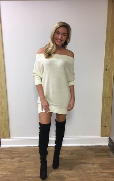 Off The Shoulder Tunic Sweater
