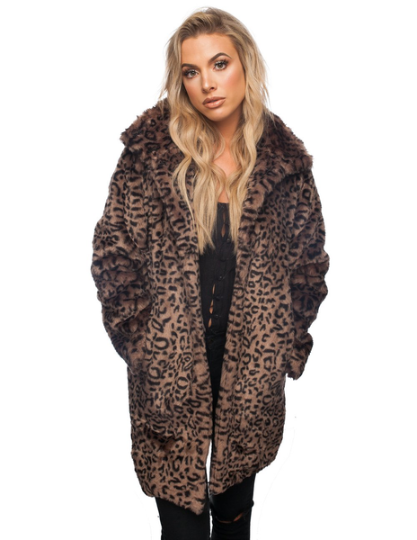 Faye Coat in Cheetah