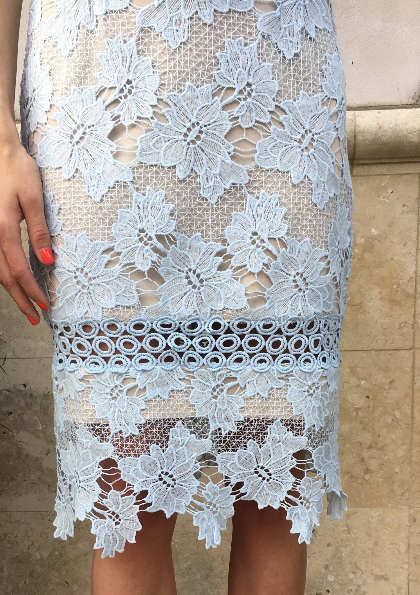 Ice Blue Lace Dress