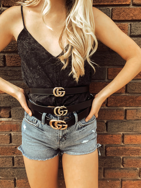 "Gucci Inspired Belt ""Skinny Size"""