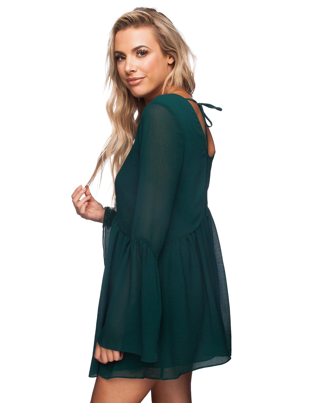 Hall Dress in Emerald