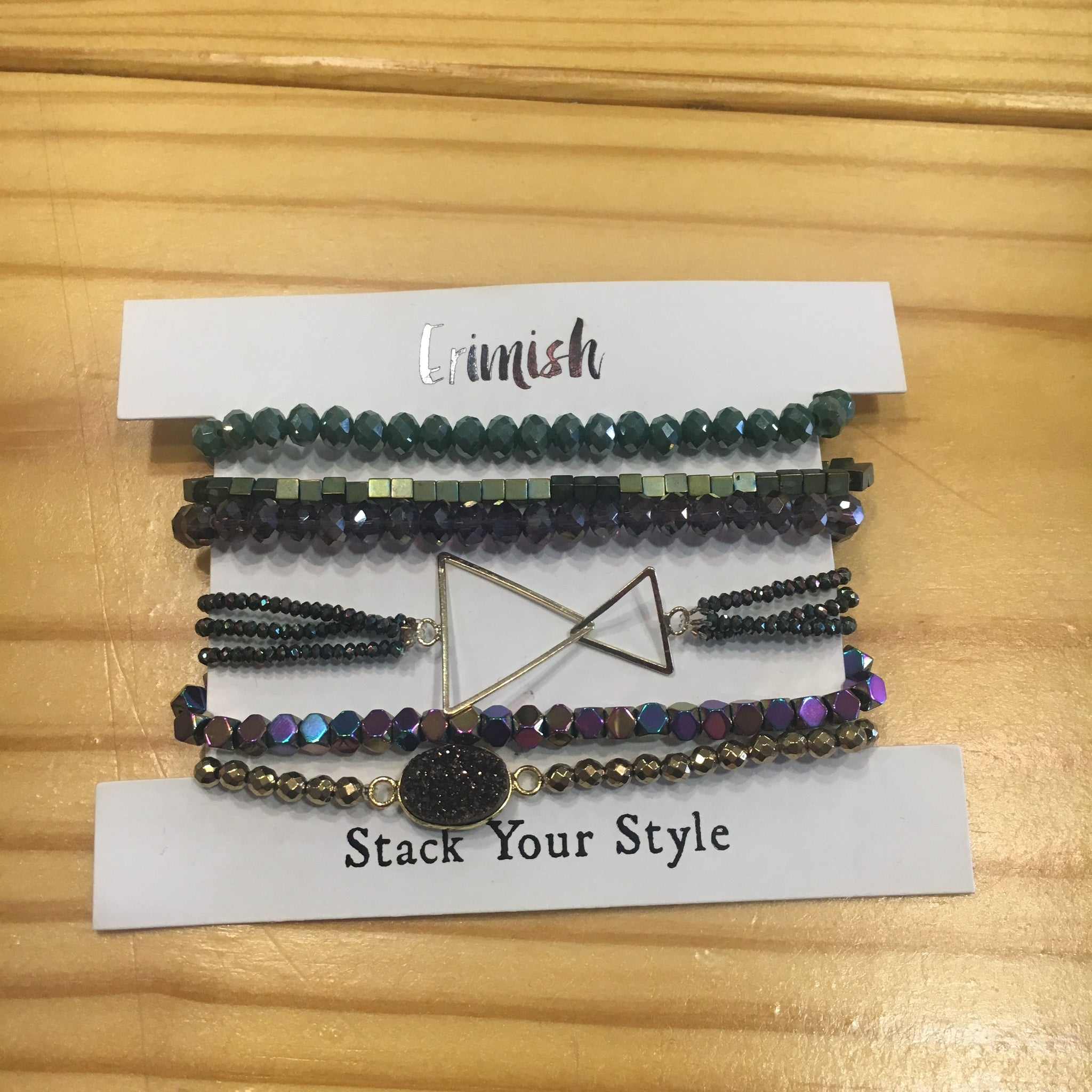 Mixed Stacked Bracelet Set