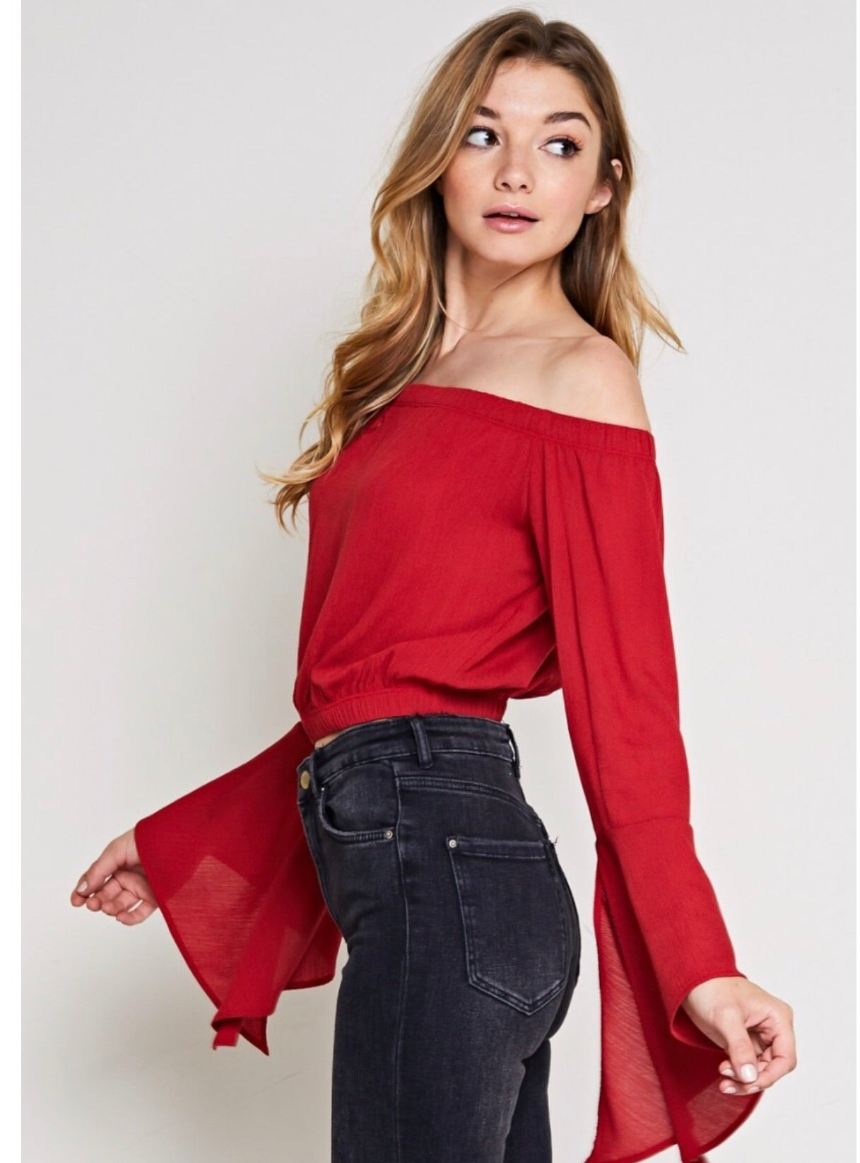 Off the Shoulder Bell Sleeve