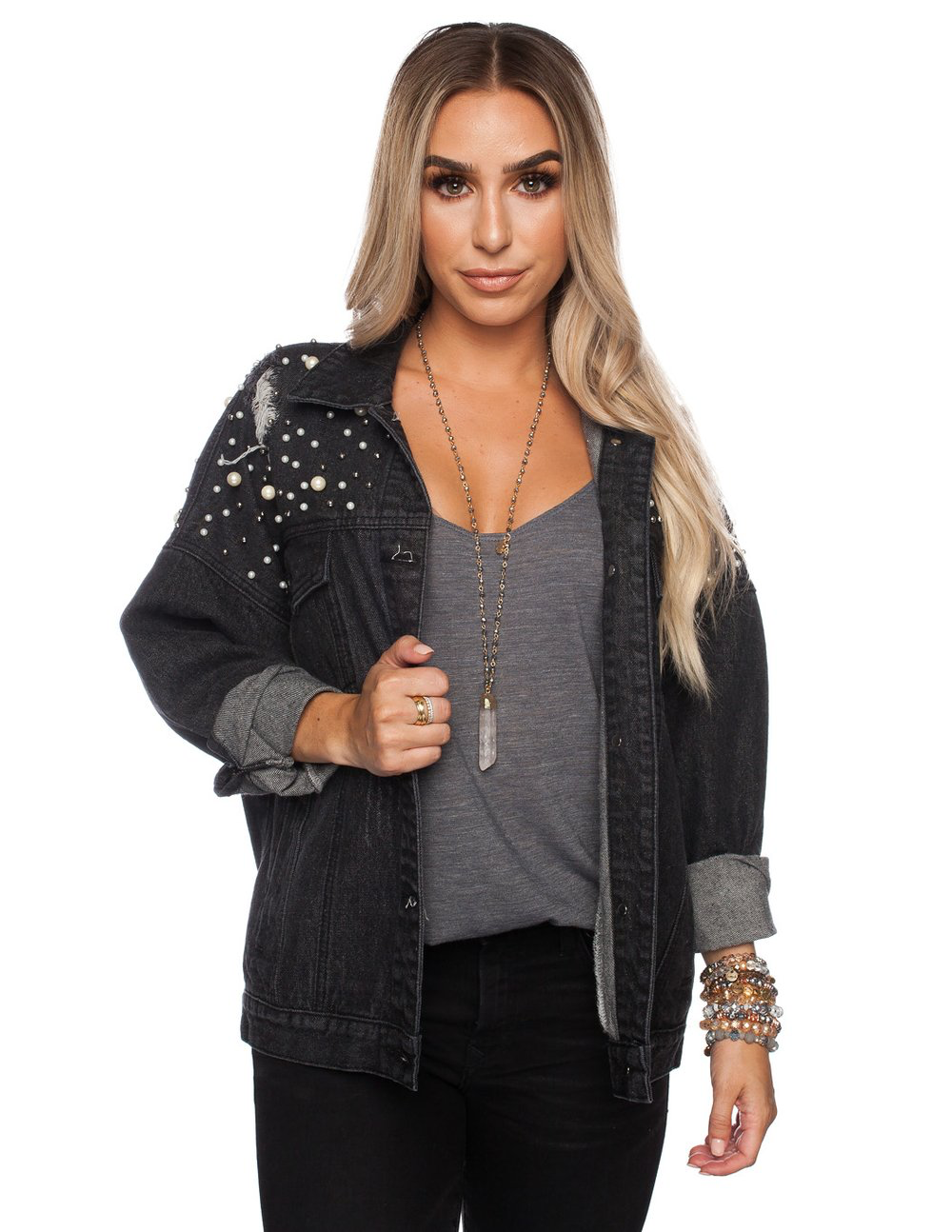 Caroline Jacket in Black Denim
