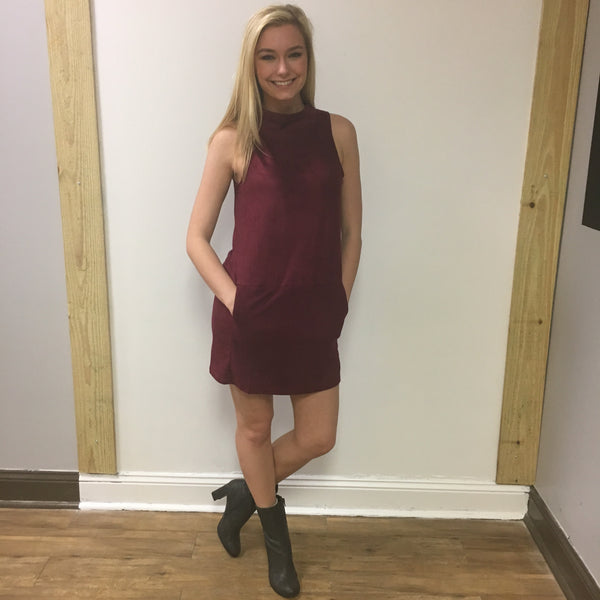 Suade Mock Turtleneck Dress