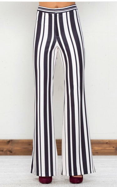 Striped Flared Pants