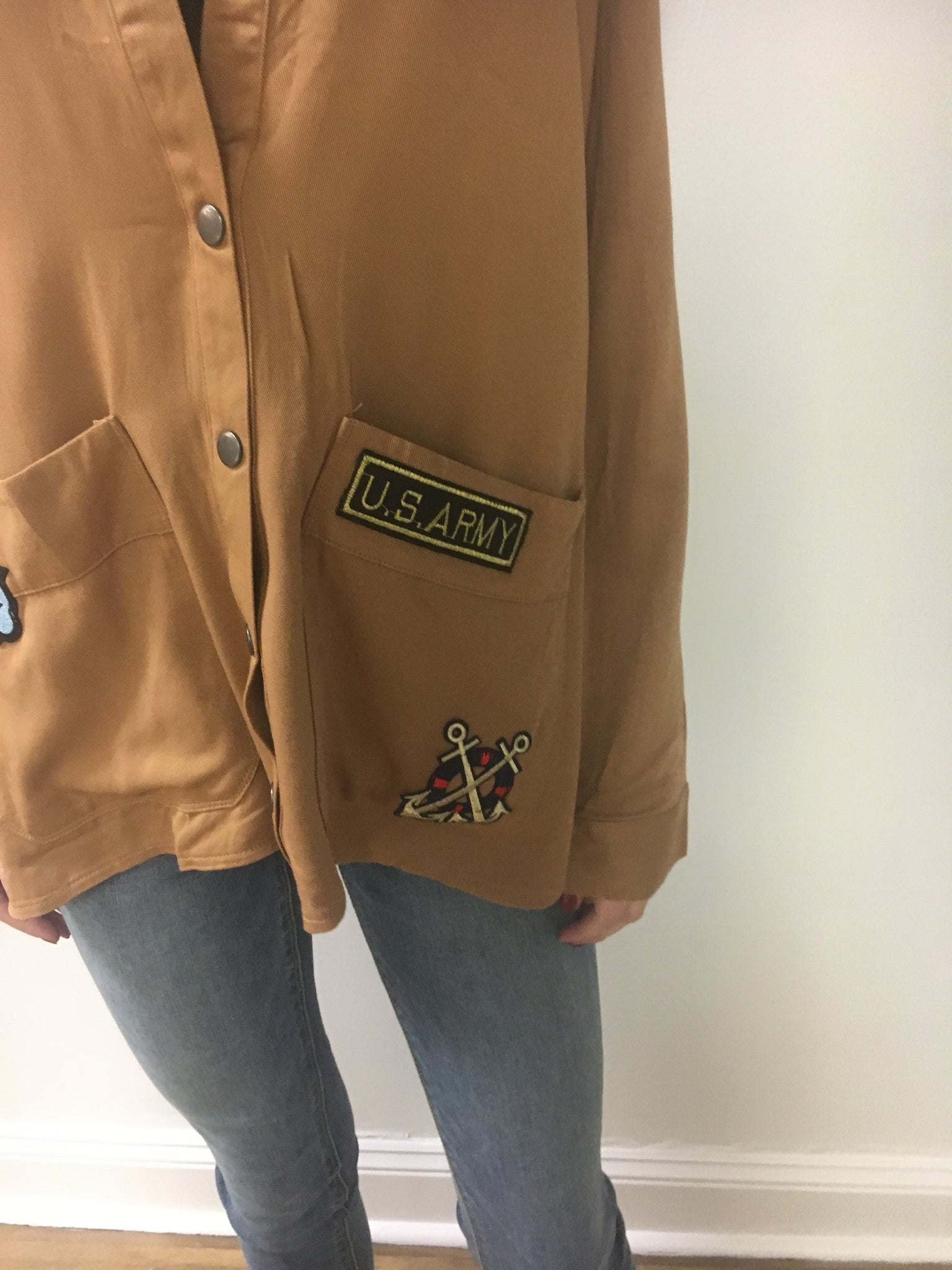 Camel Patchwork Jacket