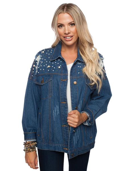 Caroline Jacket in True Denim