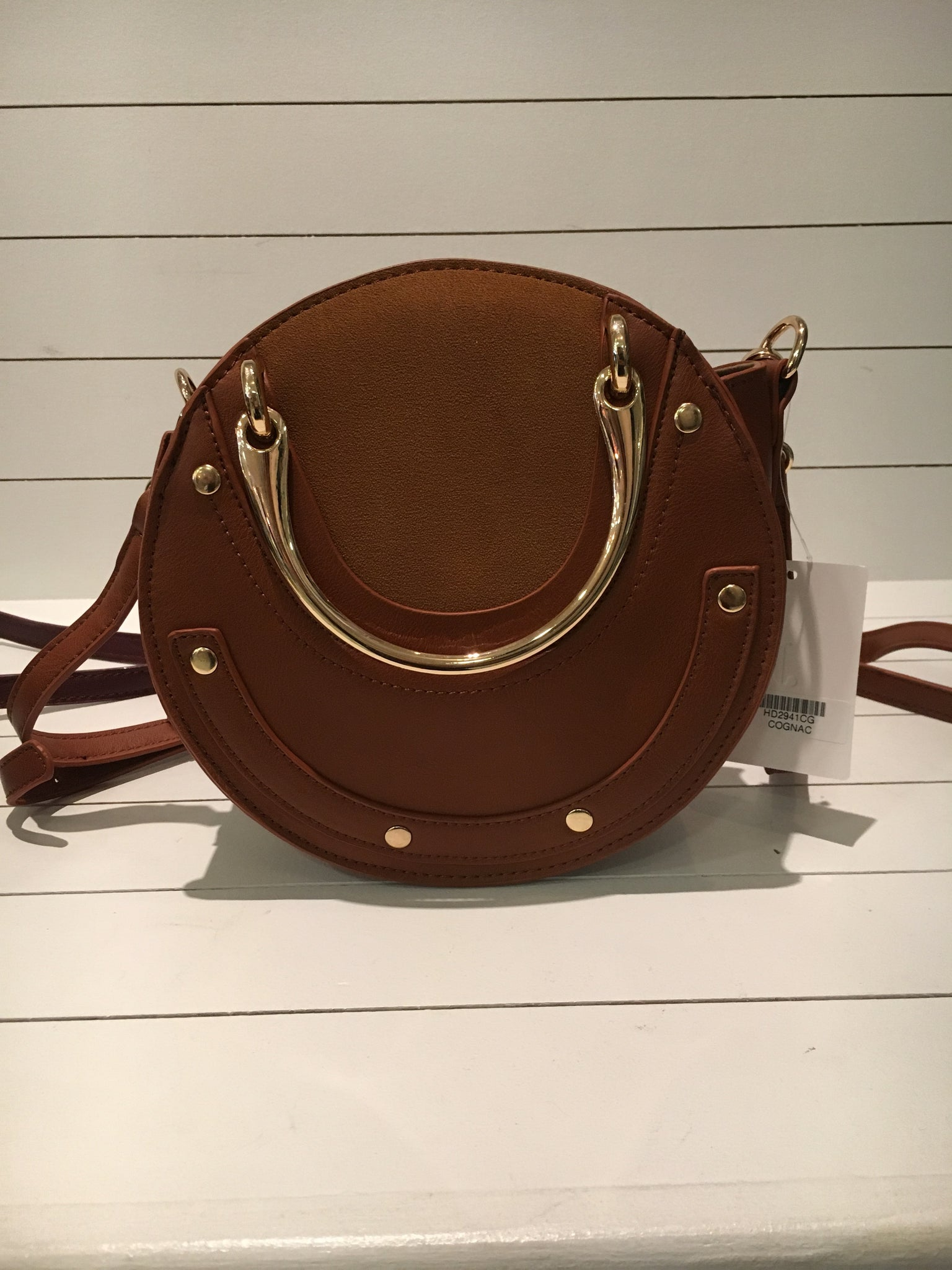 Gold Top Handle Crossbody