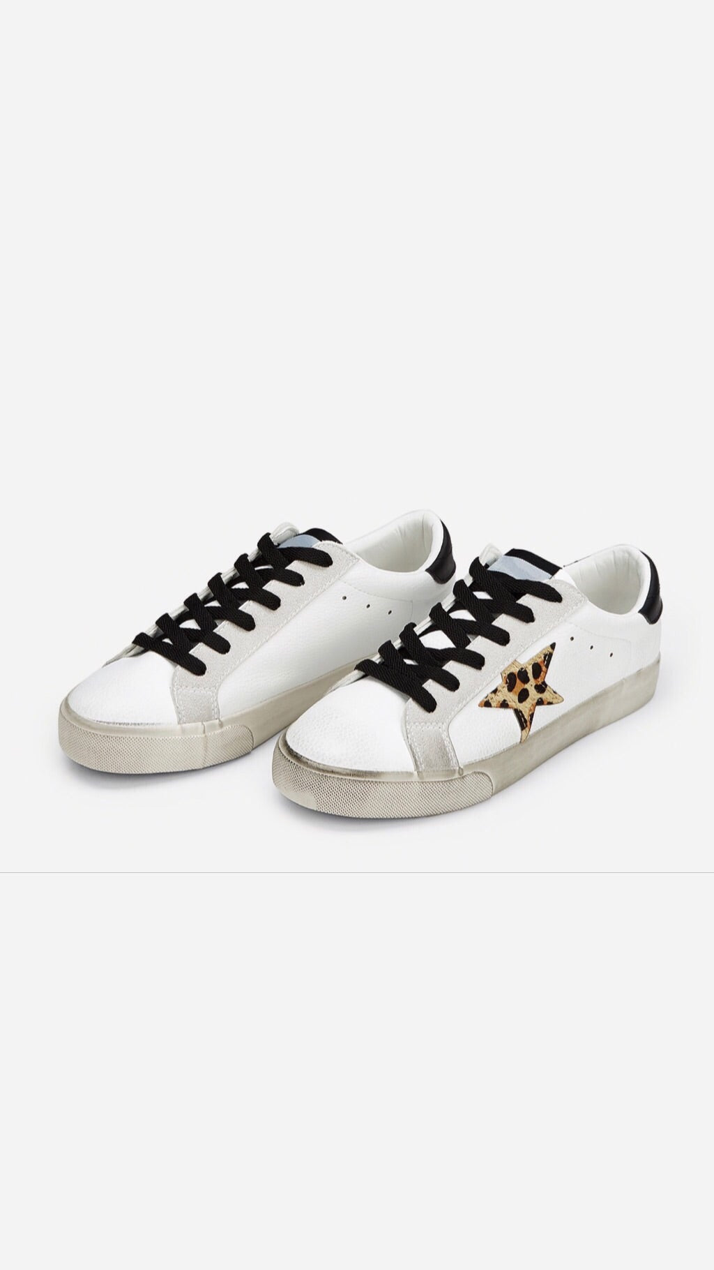 Star Sneaker with Leopard Star