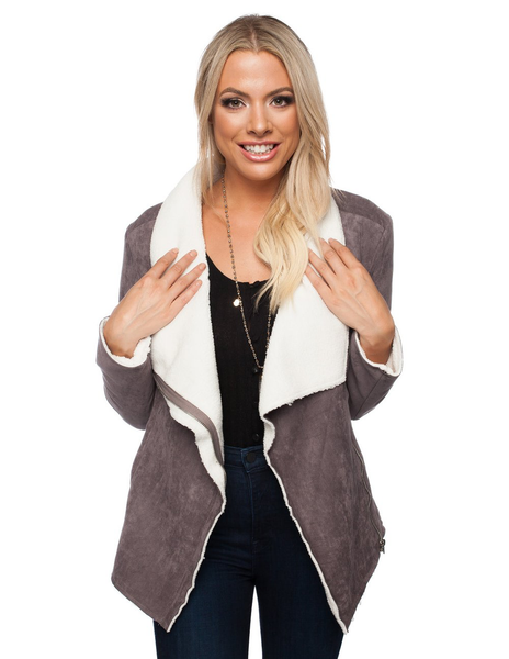 Hoda Coat in Grey