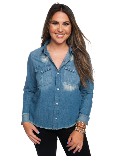 Marine Top In Denim
