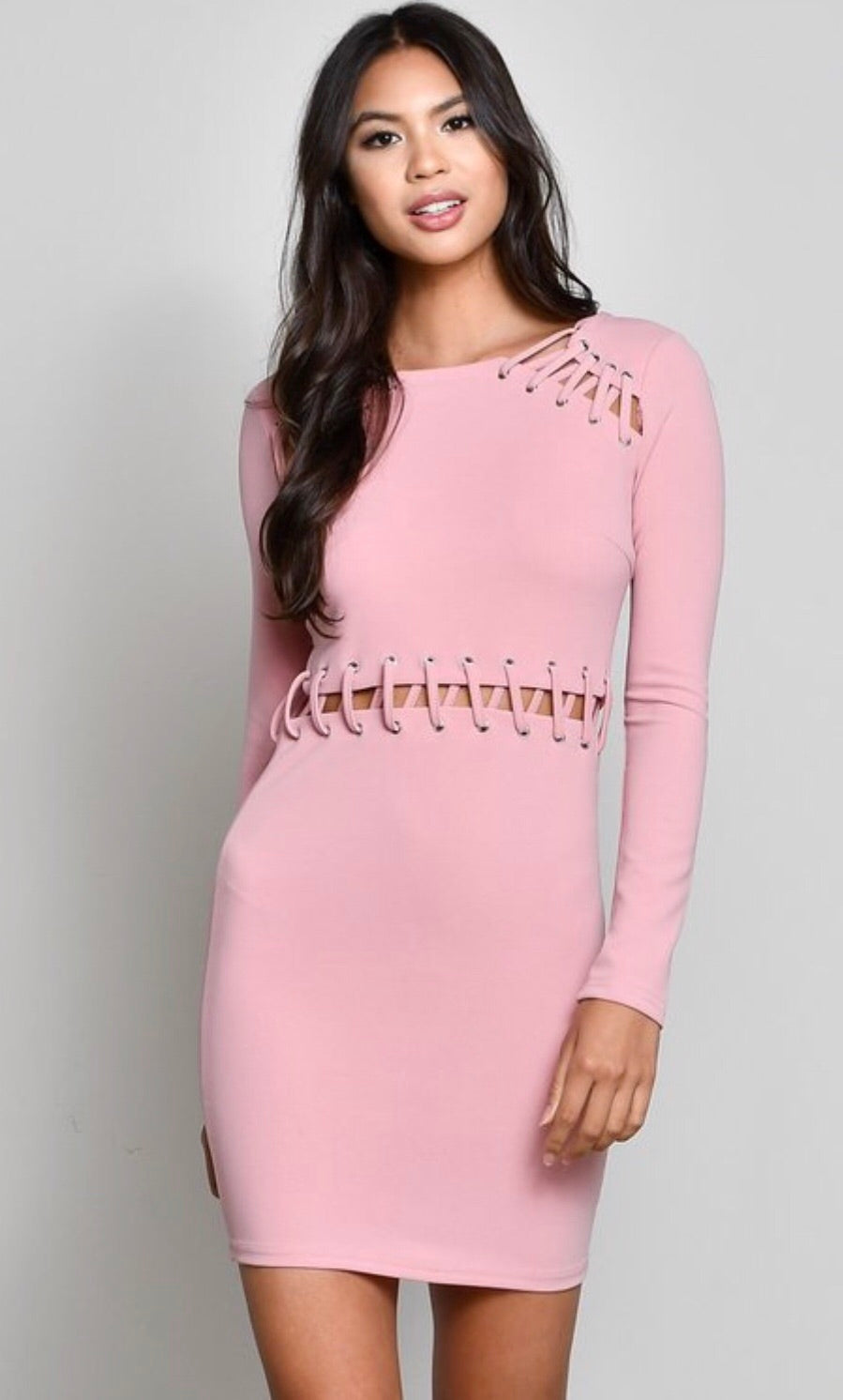 Mauve Cut Out Dress
