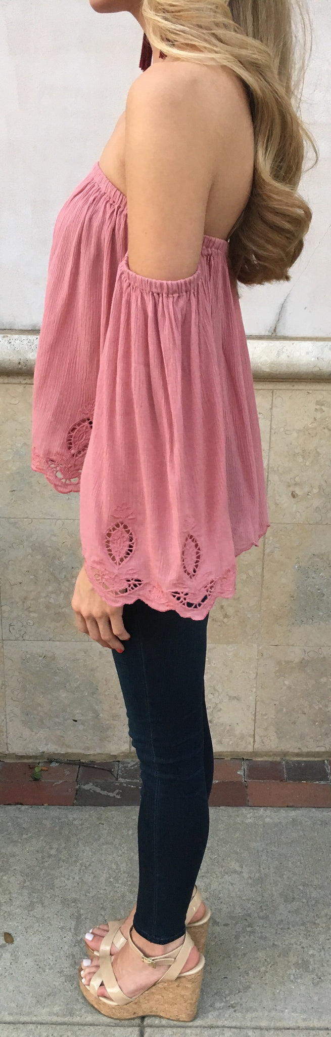Rose Off Shoulder Top