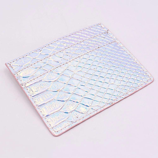 Card Holder in Iridescent Fish
