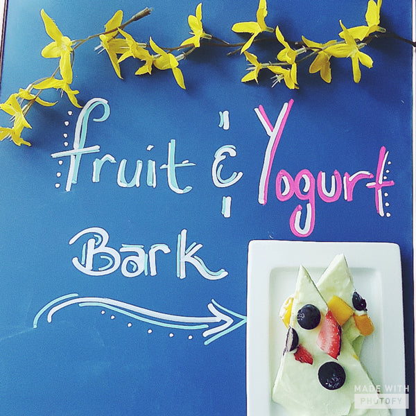 Just in Time For Mother's Day -Fruit and Frozen Yogurt Bark