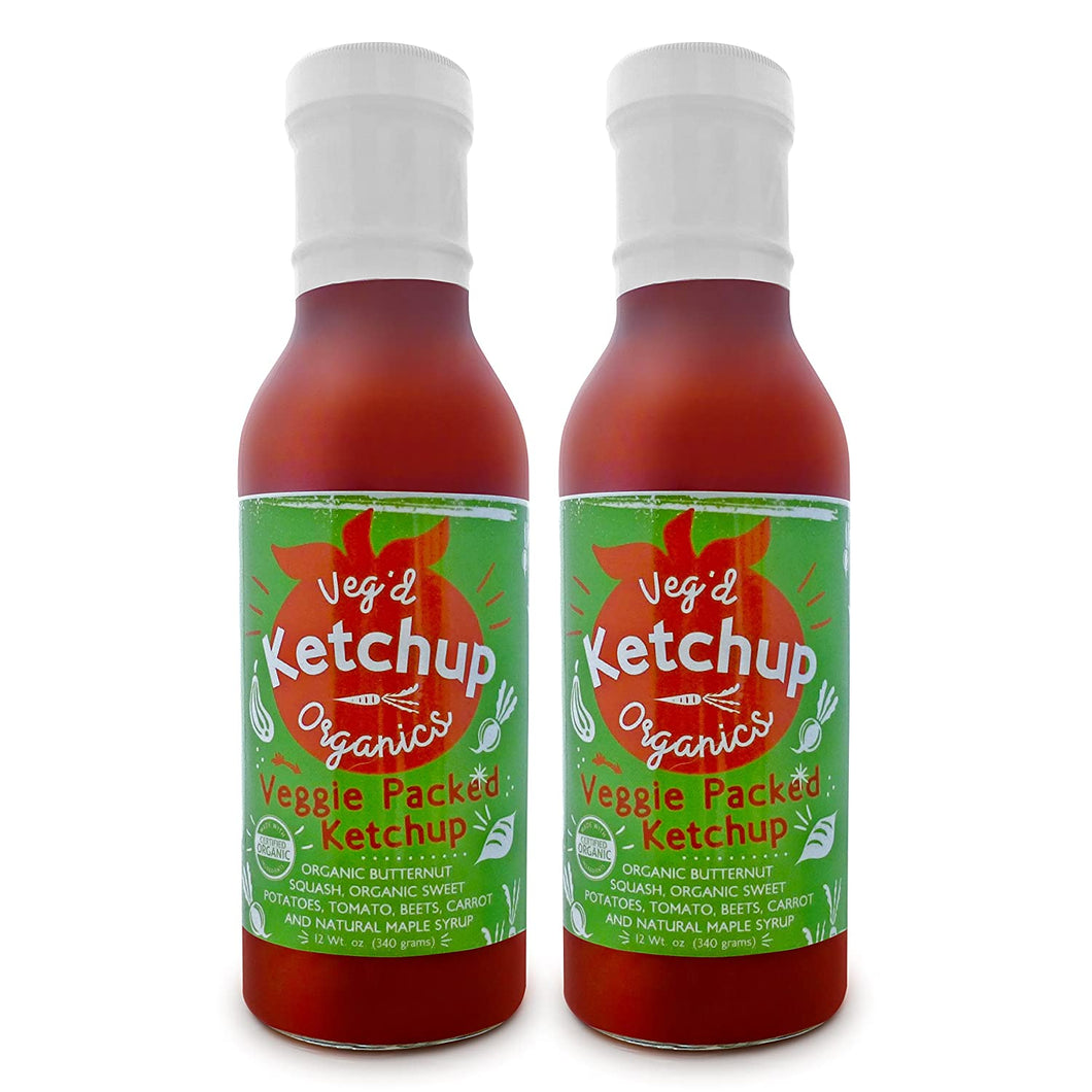 Veg'd Organics All-Natural, Hidden Veggies Ketchup - Pack of 2