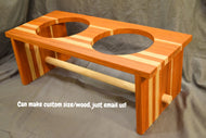 Custom Dog Bowl Food/Water Holder (bowls included)