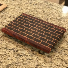 End-grain Brick Pathway Butcher Block