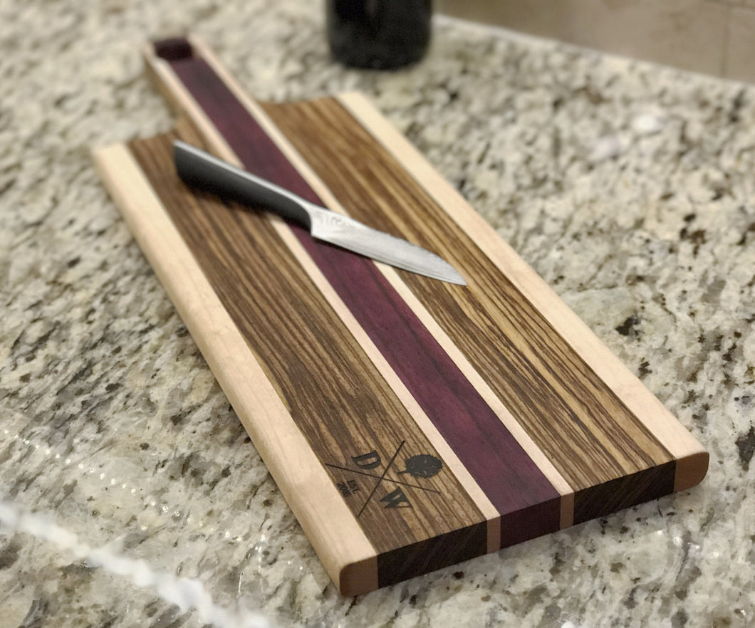 Vibrant Purple Heart Cheeseboard