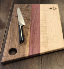 "Figured Maple & Figured Walnut ""Angle-cut"" Cutting Board"