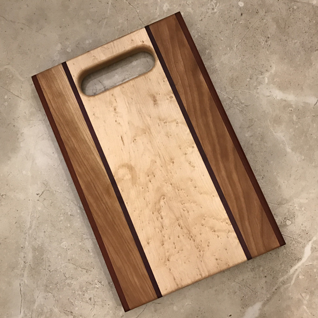 Birdseye Maple Cutting Board with Handle