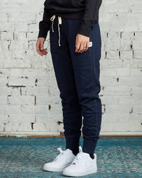 Reigning Champ Ladies Pima Terry Slim Sweatpant Navy-LESS 17