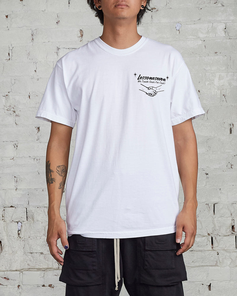 LESS17 Trade for Cash Tee White