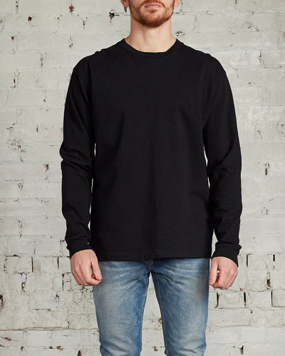John Elliott University Long Sleeve T-Shirt Black-LESS 17