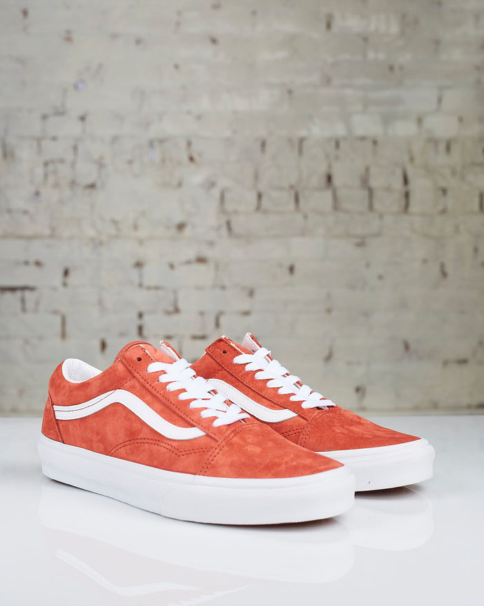 Vans Old Skool Pig Suede Burnt Brick True White