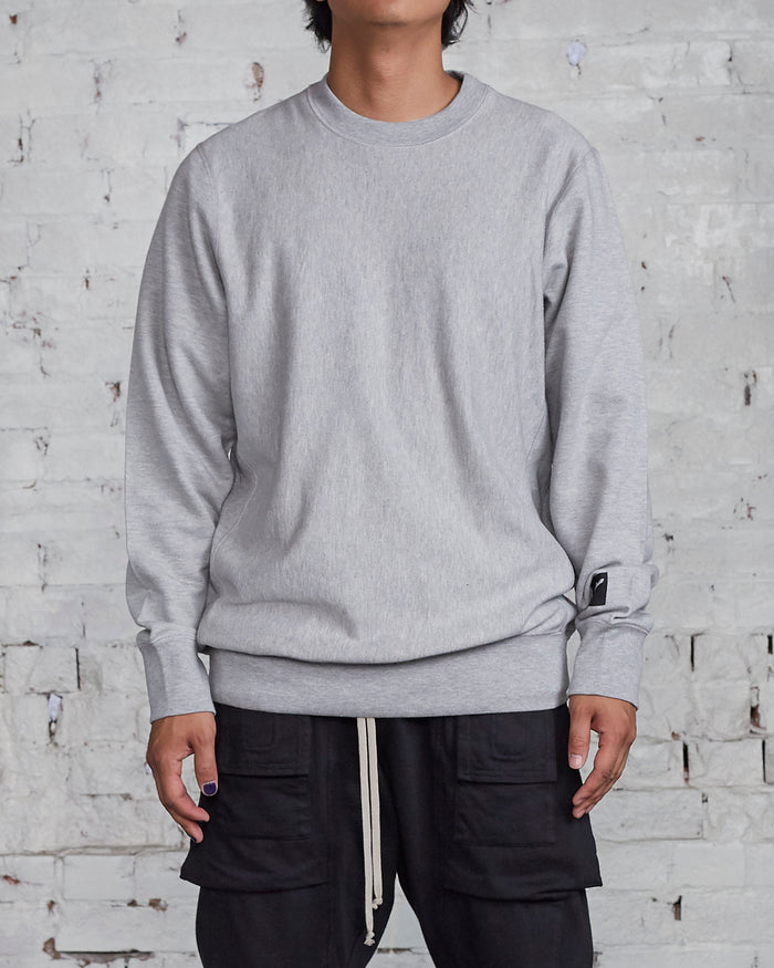 LESS17 Basis Crew Grey Heather-LESS 17