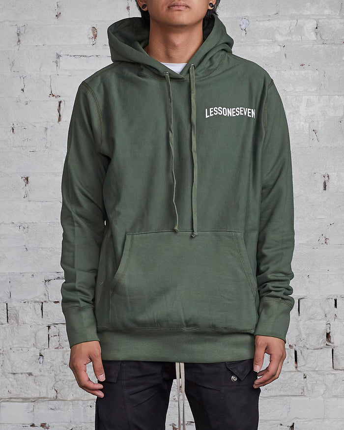 LESS17 Wavy Hoodie Olive-LESS 17
