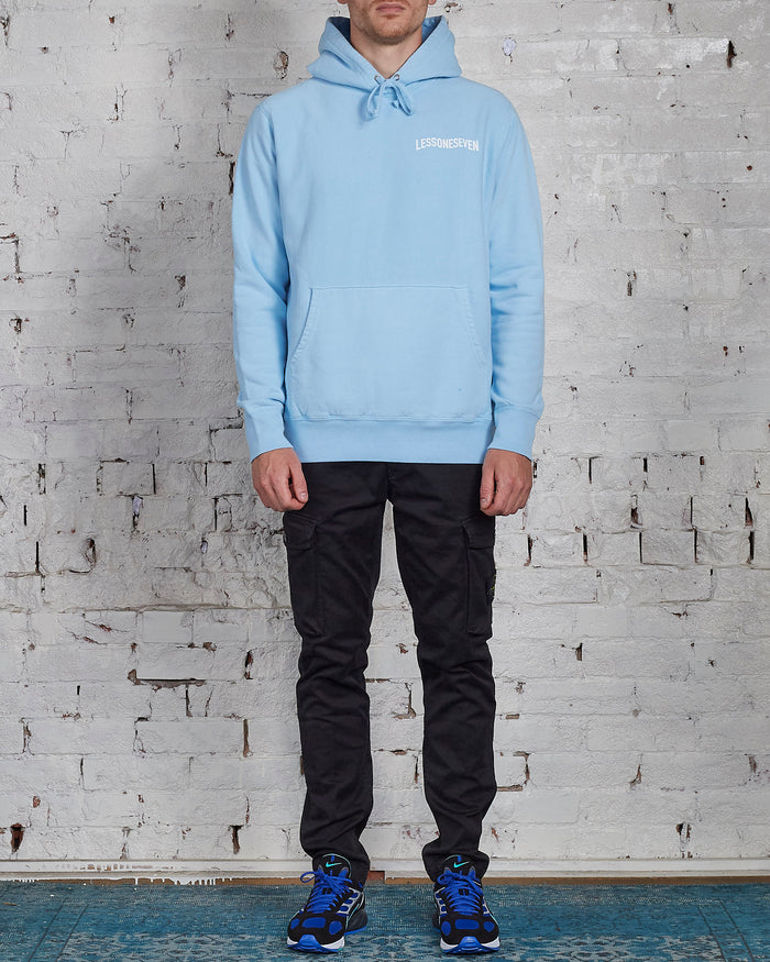 LESS17 Wavy Heavy Hoodie Blue-LESS 17