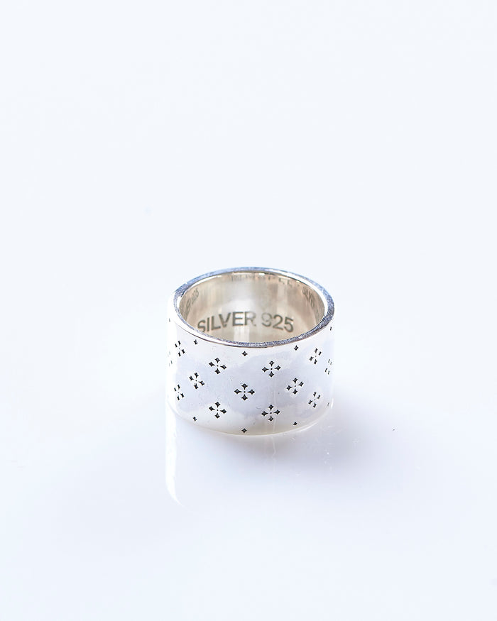 Maple Iron Cross Ring Silver 925
