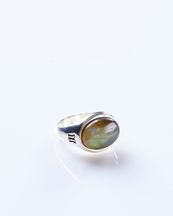 Maple Tubby Ring Silver 925 / Labrodite