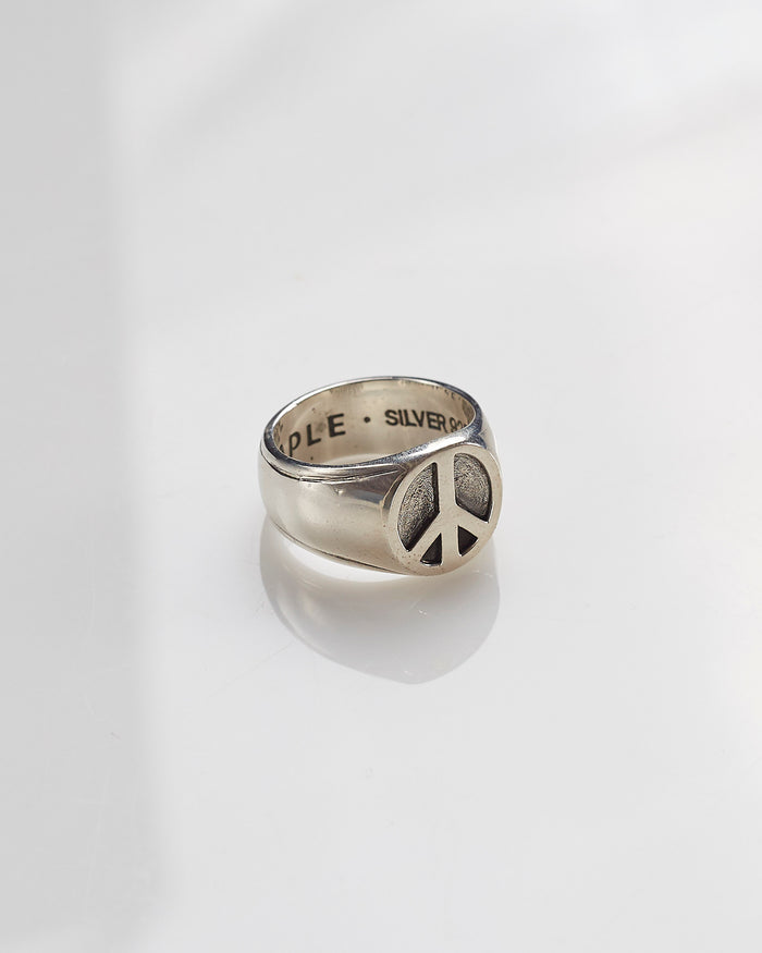 Maple Peace Ring Silver 925