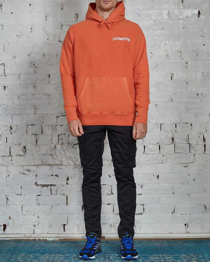 LESS17 Wavy Heavy Hoodie Orange