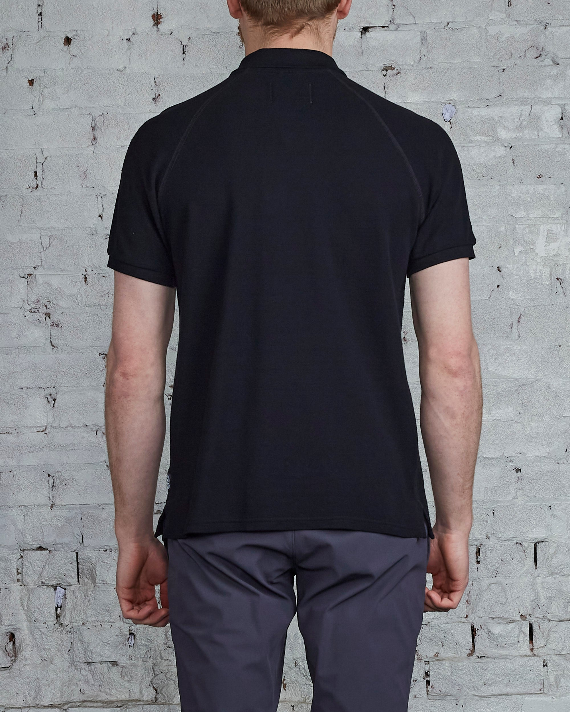 Reigning Champ Athletic Pique Polo Black