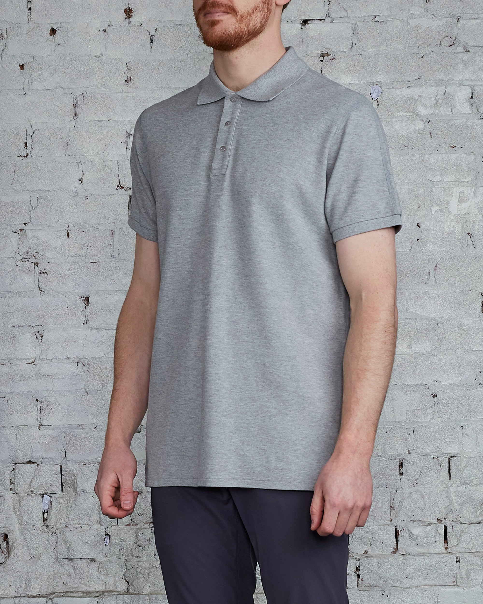 Reigning Champ Athletic Pique Polo Grey