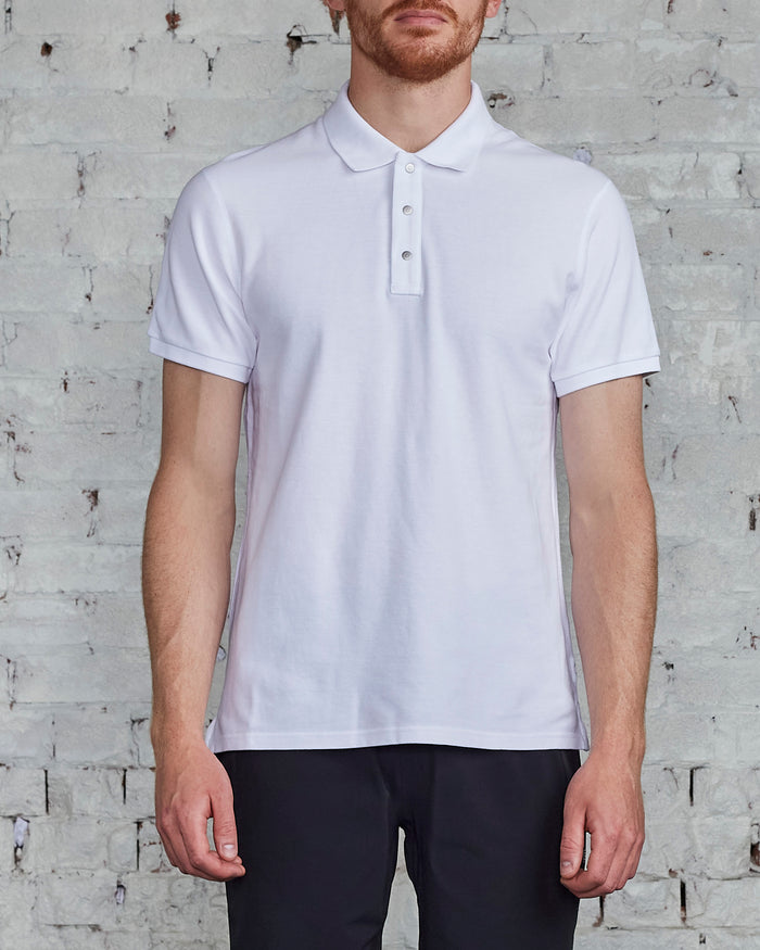 Reigning Champ Athletic Pique Polo White