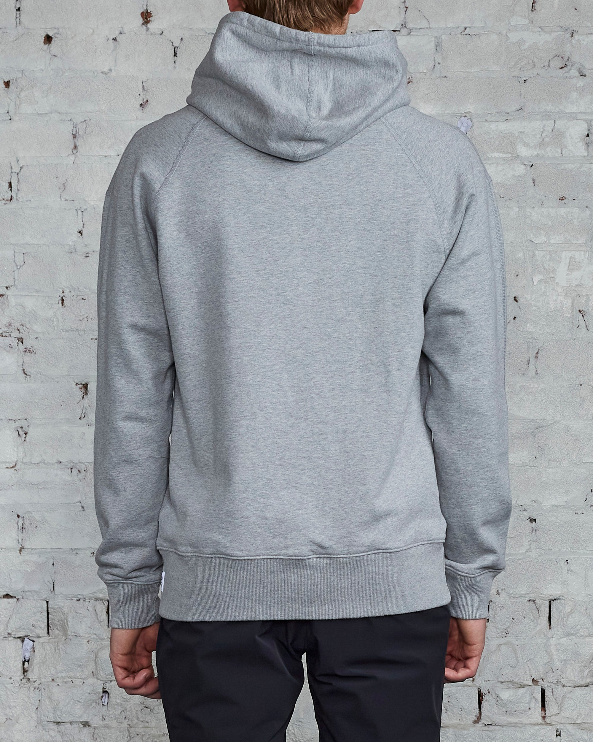 Reigning Champ Core Relaxed Pullover Hooded Sweatshirt Heather Grey -