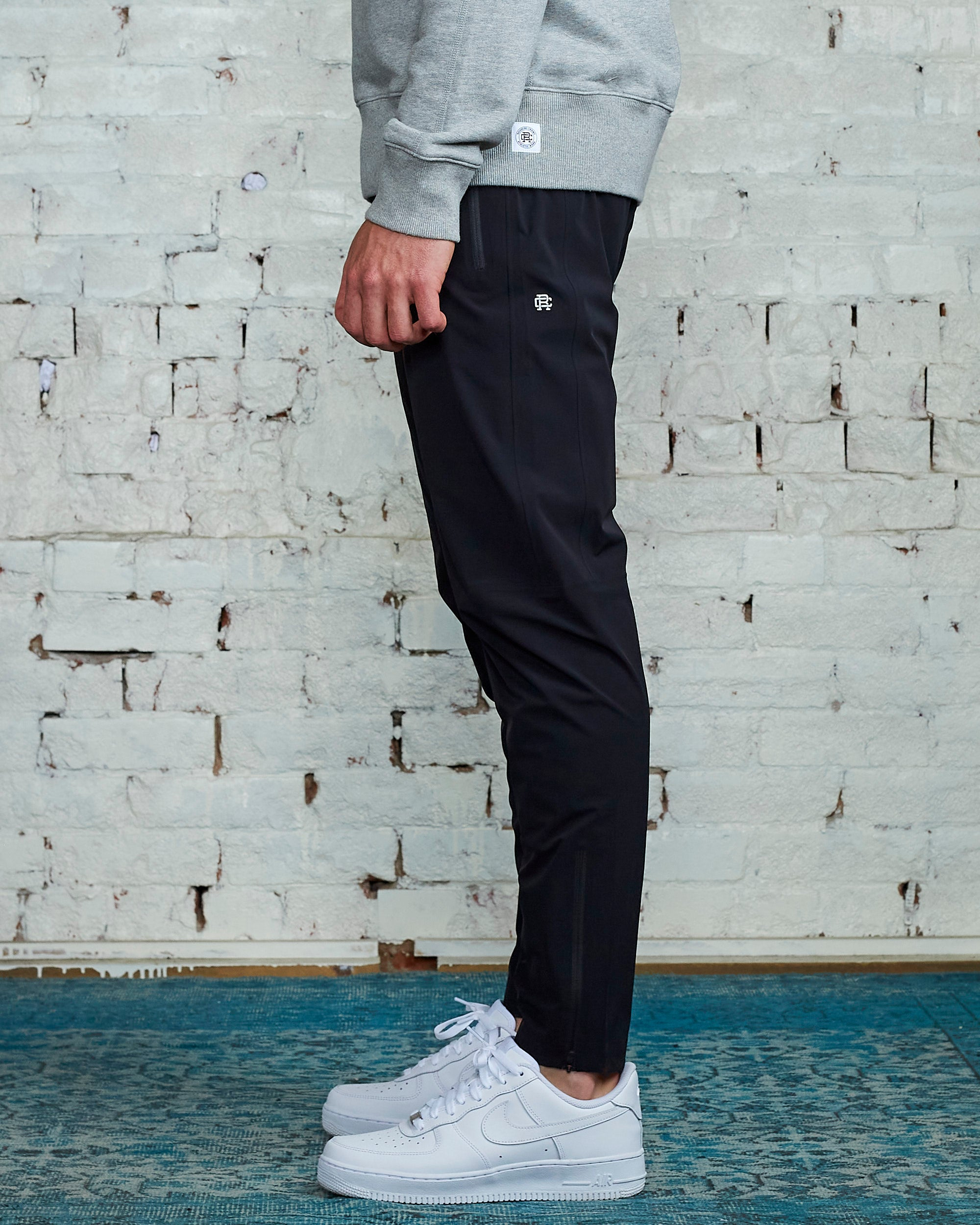 Reigning Champ Team Pant Black Stretch Nylon