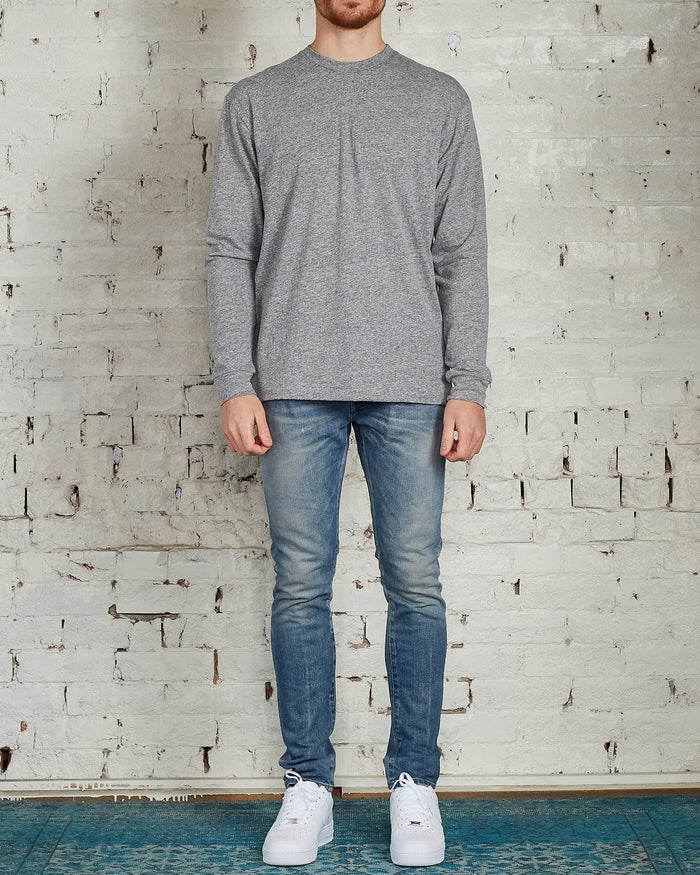 John Elliott University Long Sleeve T-Shirt Grey