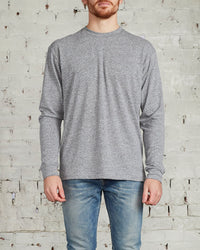 John Elliott University Long Sleeve T-Shirt Grey-LESS 17